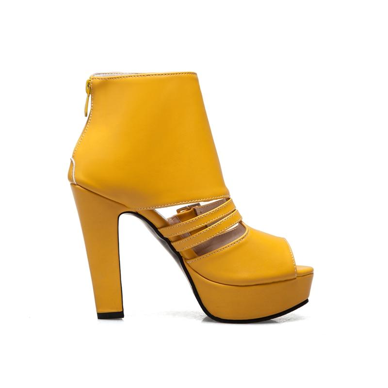 Femmes Haute De Chaussures 34 D'été Talons Sandales Sandale Design Marque Bonne Femme Qualité jaune Noir 50 Grand Taille Date blanc Parti Doratasia nqxPBZ8gwn