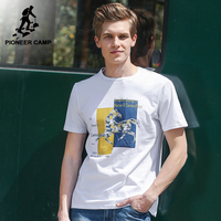 Pioneer Camp Fashion Horse Pattern T Shirt Men Brand Clothing Casual Summer Short T Shirt Male
