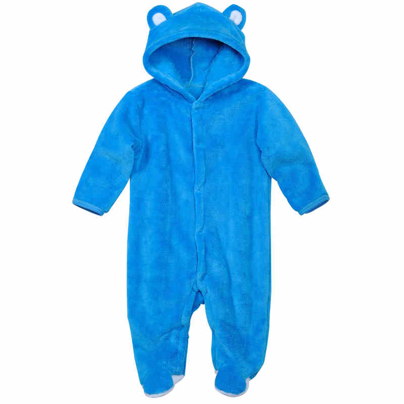 Cartoon Baby Rompers Boy Girls Jumpsuit Animal Style Hooded Clothes Autumn Winter Fleece Outfits Newborn Fashion Baby Clothing