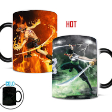 Magic Mug One-Piece Milk-Cup Gift Changing-Color Ace Zoro Gear 4-Luffy Moring
