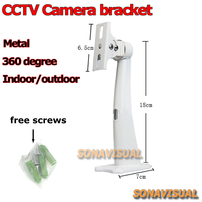 font b cctv b font camera gimbal bracket metal 360 degree rotation adjustable universal surveillance