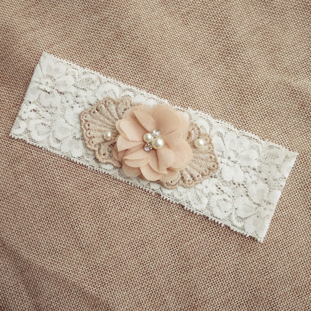 1 pcs wedding garter white bridal lace garter chiffon flower toss garter included vintage inspired lace garter customized