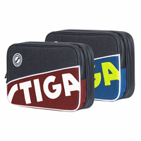 STIGA Table Tennis Rackets Bag 2019 New Double layer square round for training professional balde bat paddle ping pong case set