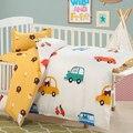 Baby bedding set 3 unids 1 Unidades cuna cama revestimientos incluido funda de almohada hoja plana funda nórdica de dibujos animados patrón de diseño para babis niños