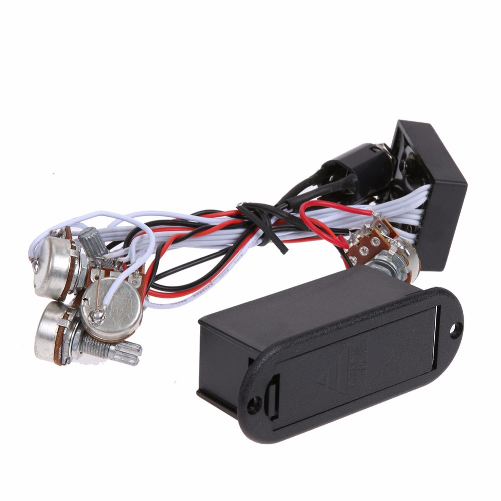 1 Set 9v Power Supply 3 Band Eq Preamp Circuit For Bass Pickup Pre Amp Active In Guitar Parts Accessories From Sports Entertainment On Alibaba
