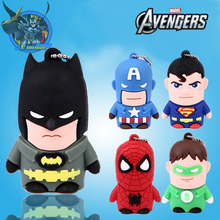 Superhero Superman/Batman/Captain America/Spiderman pendrive 4G 8GB 16GB 32GB 64GB 128GB cheap Usb flash drive cartoon pen