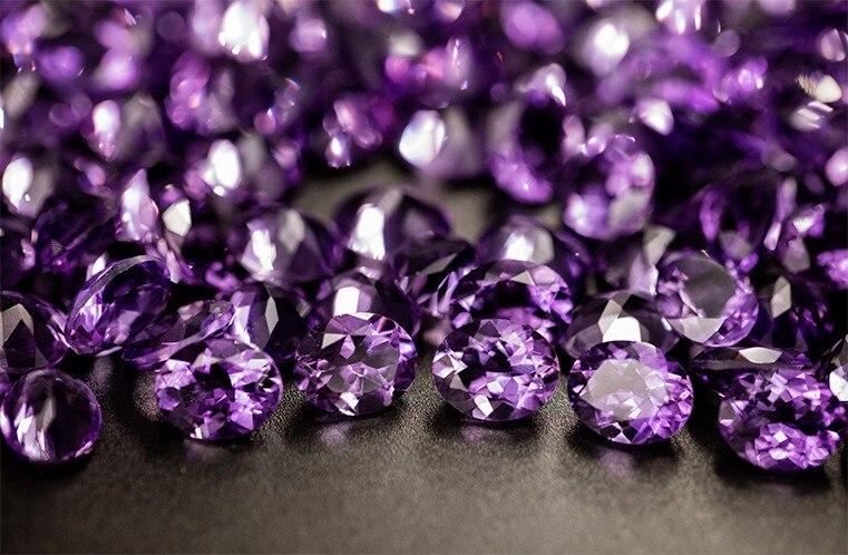 10mm, cor roxa profunda, bom corte, design de jóias de moda