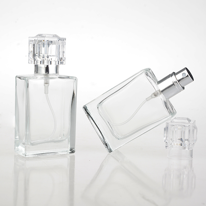 1 Piece 30ML Fashion Portable Transparent Glass Perfume Bottle With Aluminum Atomizer Empty Cosmetic Case For Travel usb rechargeable 500ml healthy portable hydrogen rich water cup transparent glass bottle with lid