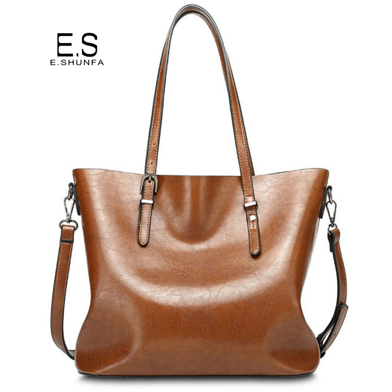 Large Capacity Shoulder Bags 2018 Fashion Vintage Tote Women Bag PU Leather Zipper High Quality Casual Shoulder Bag Womens multifunctional pu leather zipper decor shoulder bag