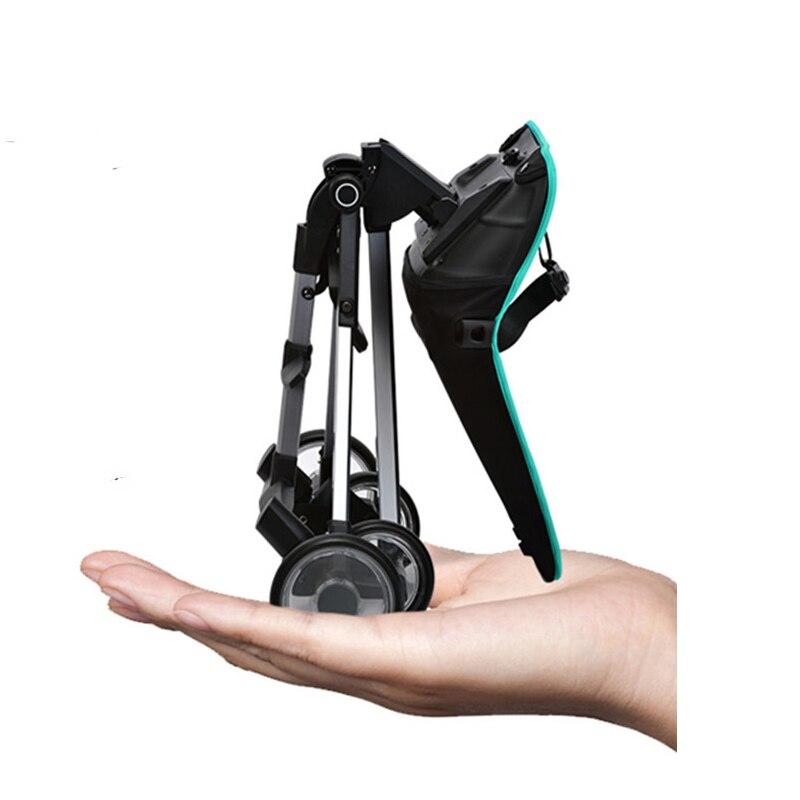 Deslizamento do bebê artefato carrinho de criança quatro rodas choque em dois sentidos alta paisagem carro luz dobrável carrinho