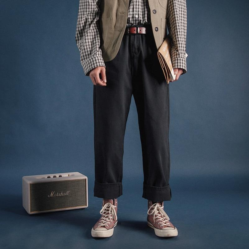 Hommes Vintage mode lâche décontracté pantalon droit mâle japonais Harajuku Streetwear Harem pantalon large jambe pantalon-in Casual Pantalon from Vêtements homme on AliExpress - 11.11_Double 11_Singles' Day 1