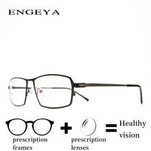 Alloy glasses Prescription Eye Glasses Men Fashion Transparent Reading Transition Progressive Spectacles Unique Hinge IP6026