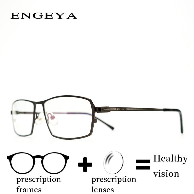 Alloy glasses Prescription Eye Glasses Men Fashion Transparent Reading Transition Progressive Spectacles Unique Hinge #IP6026