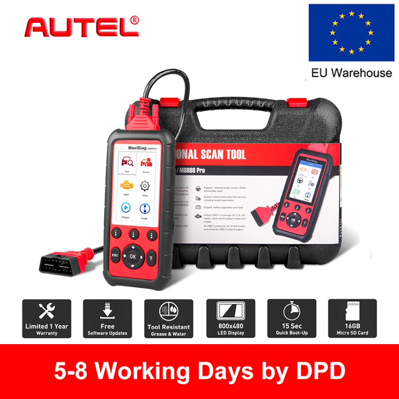 Autel MD808 PRO OBD2 Scanner Car Diagnostic Tool For Engine,Transmission,SRS And ABS Auto Scanner Automotivo Diagnostic Tool