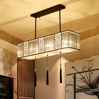 LED Crystal Iron Light Modern Simple New Chinese Chandelier Atmosphere Warm Living Bedroom Living Room CL