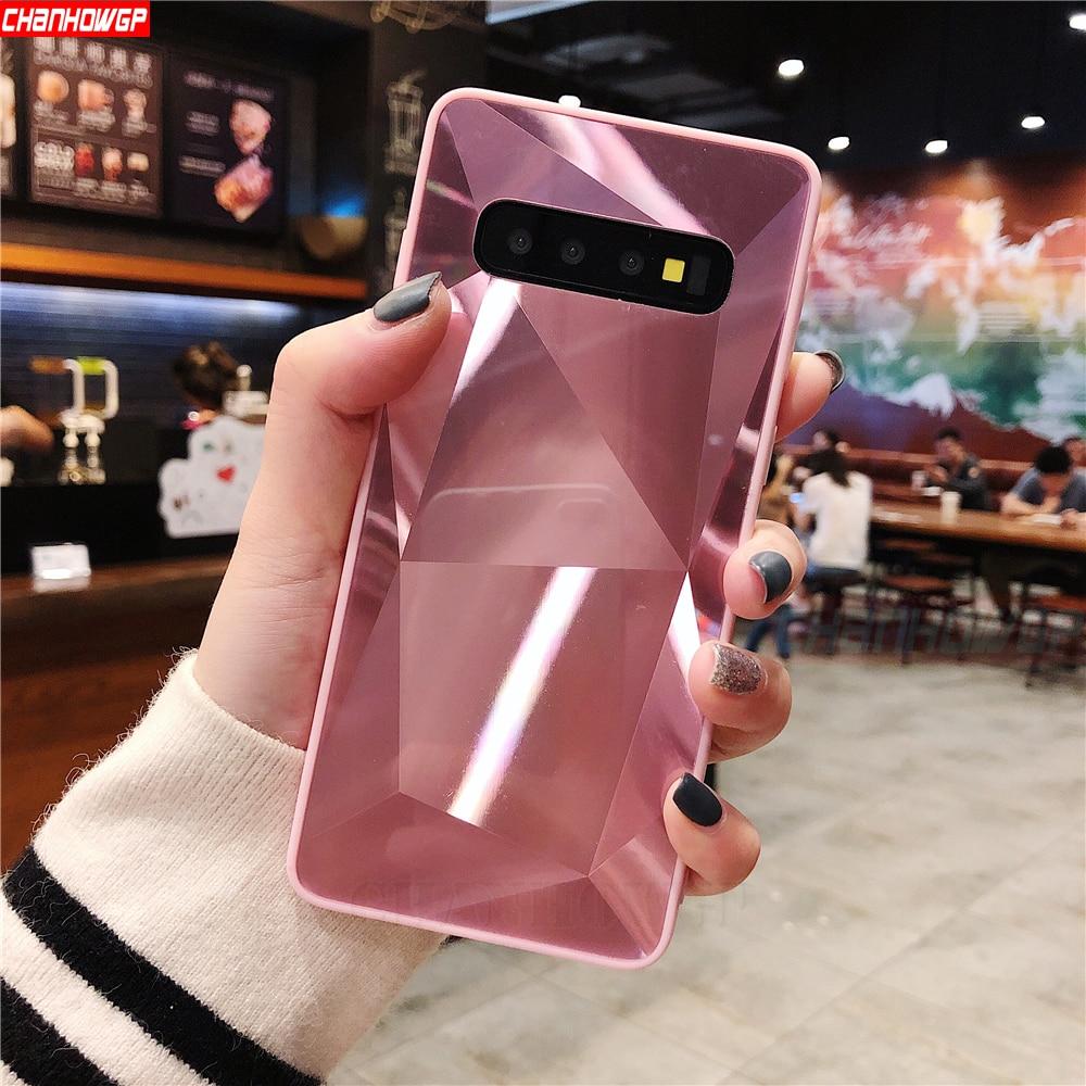 Diamond Bling Mirror Case For Samsung Galaxy S10 S9 S8 Plus S10e S7 Edge A9 A7 A6 A8 J4 J6 J8 Plus 2018 J3 J5 J7 A5 2017 Note8 9