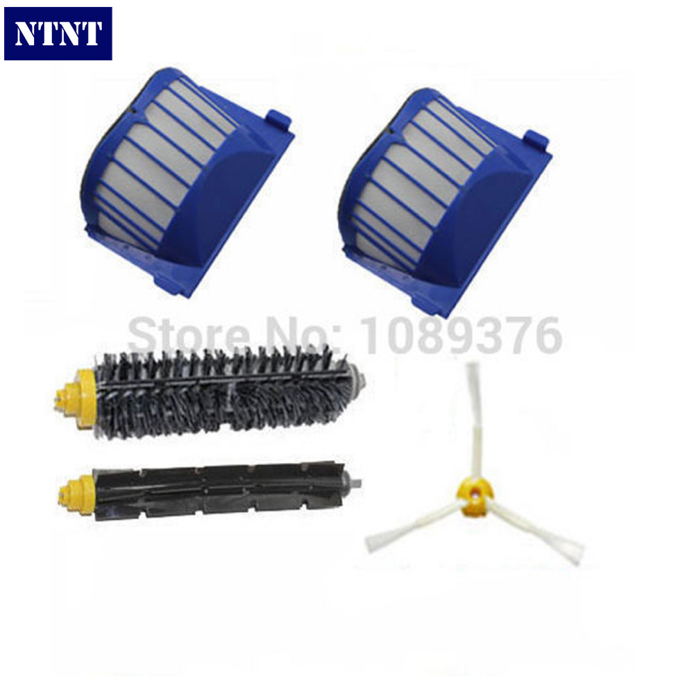 NTNT Free Post New AeroVac Filter & 3 armed Brush kit for iRobot Roomba 600 Series 620 630 650 660 3pc brush replacement mini kit 6 armed for irobot roomba 500 series free shipping