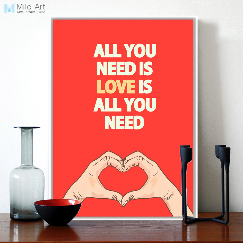 I Love You More Than Quotes: Aliexpress.com : Buy Modern Minimalist Red Heart