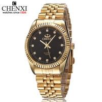CHENXI Luxury Brand Watch Men Gold Stainless Steel Clock Quartz Waterproof Wrist Watch Hodinky Famosas Ceasuri