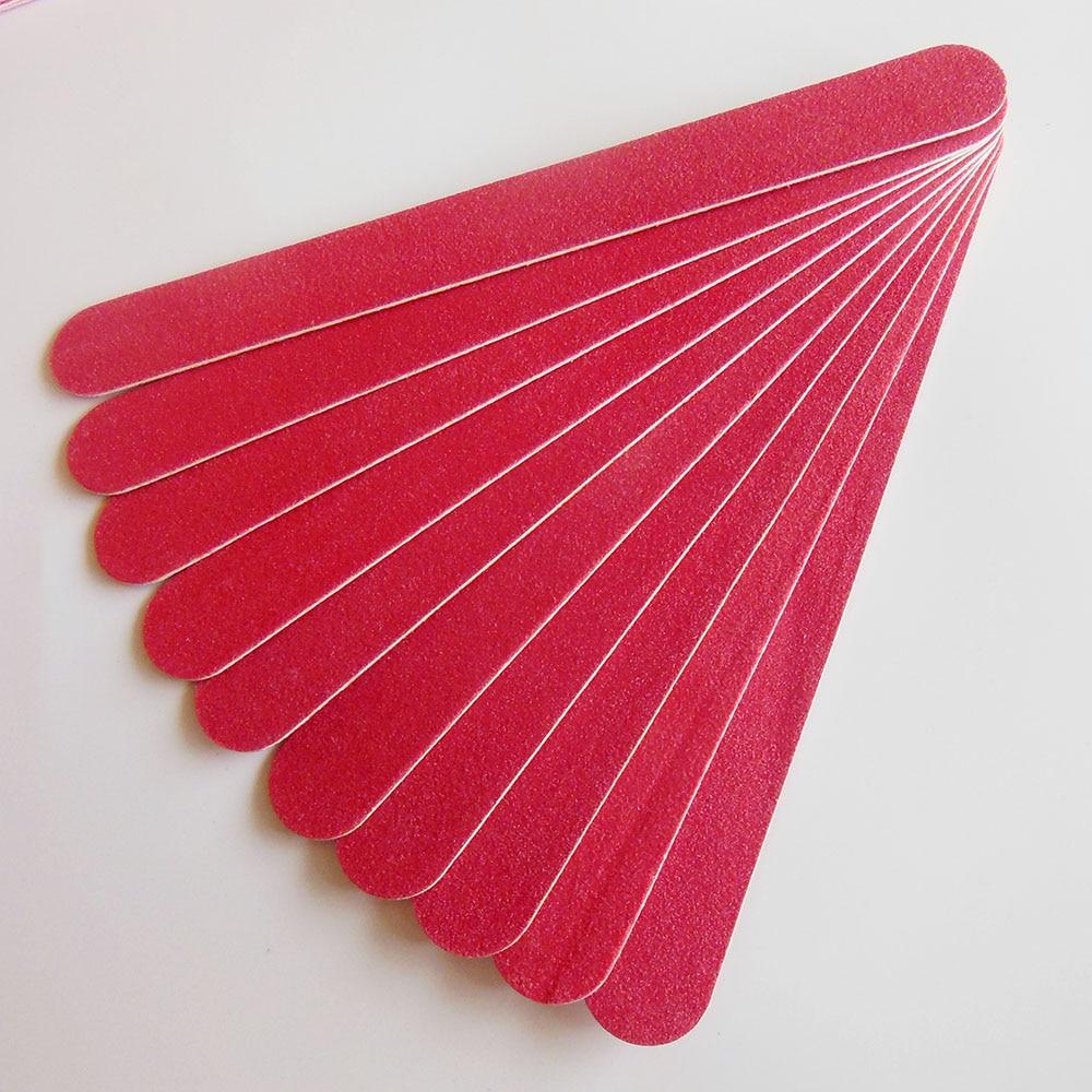 10 pcs random colour wood nail file nail boards thin nail file ...