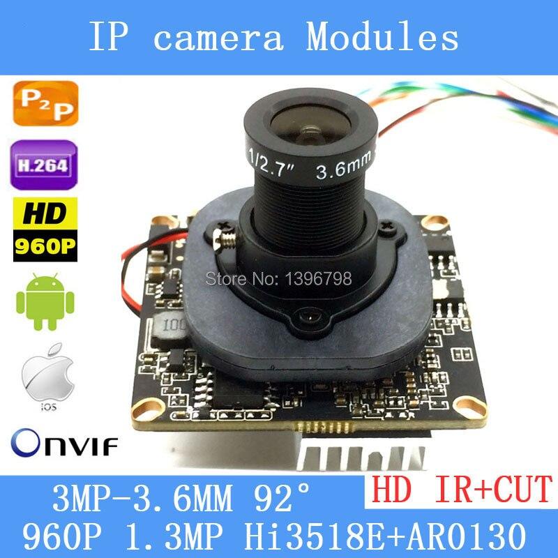 PU`Aimetis HD 1.3MP IP Camera Module 960P CCTV PCB Main Board IRC ONVIF, H.264 Hisilicon, 3.6mm 3mp lens+ IR Cut hd 1 3mp ip camera module 960p cctv pcb main board irc onvif h 264 hisilicon 3 6mm 3mp lens ir cut