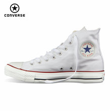 Original Converse all star shoes men womens sneakers canvas shoes all black high classic Skateboarding Shoes free shipping cheap Adult Flat Concrete Floor Fits larger than usual Please check this store s sizing info Medium(B M) Summer2017 Future Suede Lite