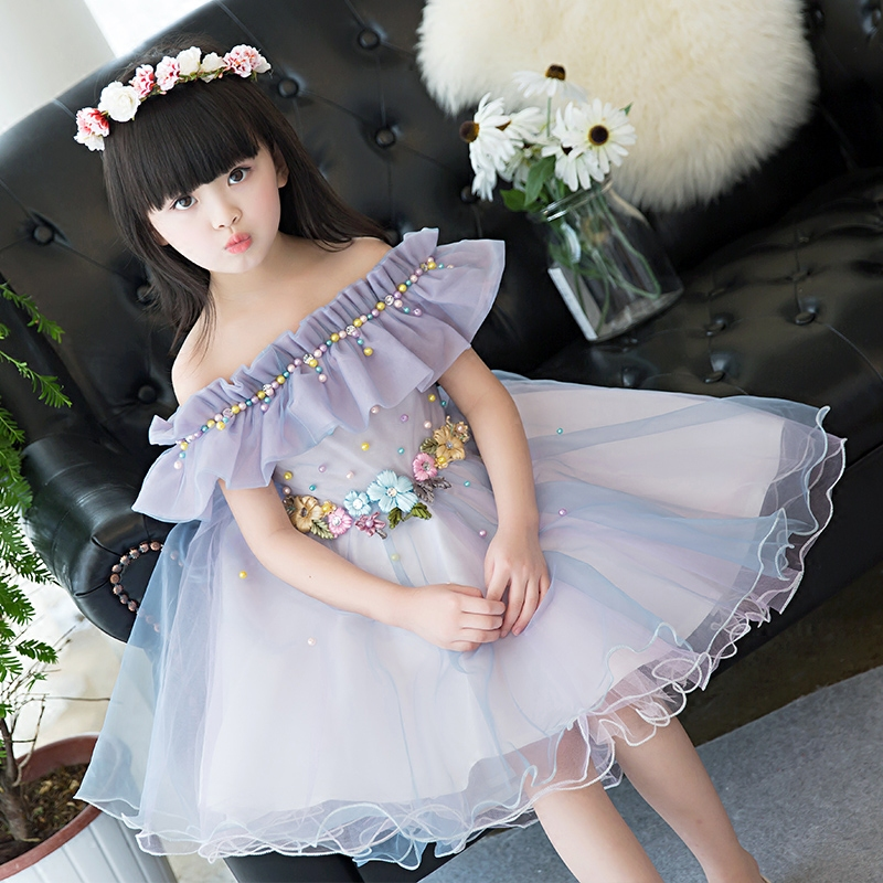 2017 New Summer Girls Summer Birthday Party Dresses Beauty Pageant Gilrs Ball Prom Dresses For Wedding Costume Festival Flower 4pcs new for ball uff bes m18mg noc80b s04g