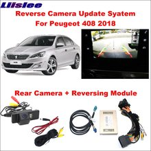 Liislee For Peugeot 408 2018 Original Screen Update System Reversing Track Image Module Reverse Parking Camera Digital Decoder