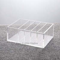 5 Compartment Clear Acrylic Organizer Jewelry Display Box
