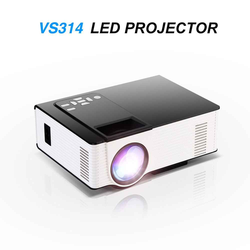 Vs314 led mini projector full hd 1500 lumens 800 x 480 for Miniature projector