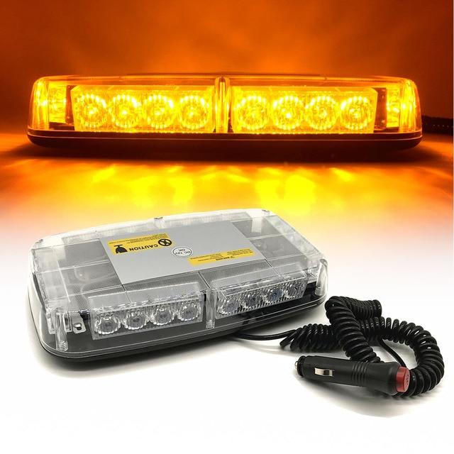 Car Roof Strobe Light 24 LED Flashing Emergency Warning Light Lamp Police  Car Fire Truck Roof