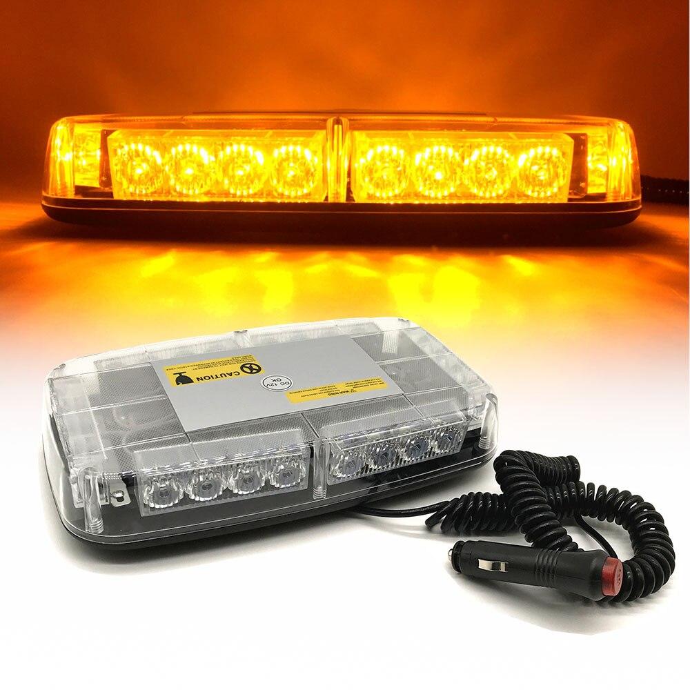 Lumière stroboscopique de toit de voiture 24 LED clignotant lampe d'avertissement de secours lampe de Police voiture camion de pompier toit lumière flash balise DC12V
