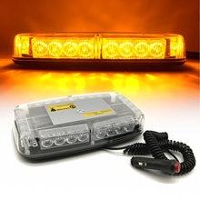Luz estroboscópica para teto de carro, 24 led, pisca de emergência, luz de aviso, lâmpada, polícia, carro, caminhão de fogo, teto, flash, beacon dc12v