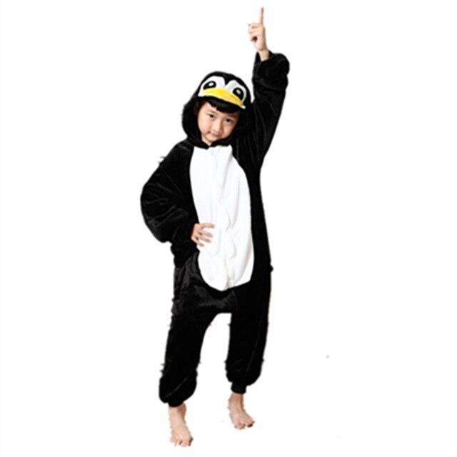 7d1f81fdbff1 Anime Cute penguin jumpsuit Cosplay penguin Onesie Children Kids Flannel  Animals Pajamas Anime Cartoon Costumes kids Sleepwear