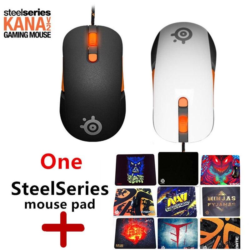 Livraison gratuite origine SteelSeries Kana V2 souris Optique Gaming Mouse et souris Race Core Professionnel Jeu Souris Optique