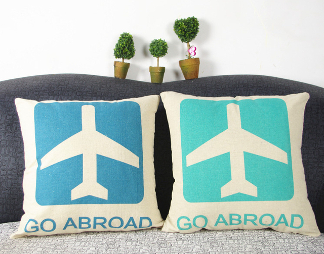 Airplane Aviation Sign Of Significance Of The Trip Emoji Case Pillow Gorgeous Airplane Decorative Pillow