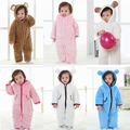 New Baby winter bodysuit thickening clothes climb newborn cloth coral fleece romper infant gap baby jumpers