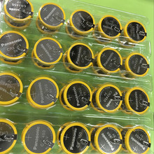 10pcs/lot Panasonic CR2450 550mAh Button Cell Batteries 3V Welding Solder Pins Bluetooth Watch Accessories CR 2450 Coin battery(China)
