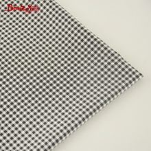 Booksew 100% Cotton Twill Fabric Black And White Checks Design Home Textile Bed Sheet Quilting Tecido For Baby DIY Patchwork(China)