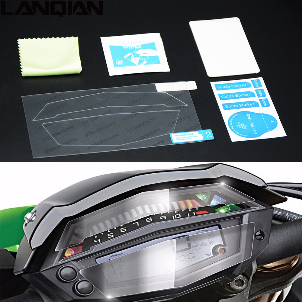 100% Brand New Cluster Scratch Protection Speedomter Screen Film Screen Protector For KAWASAKI <font><b>Z1000</b></font> <font><b>2015</b></font> 2016 2017 Z 1000 16 17 image