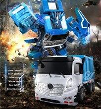 2018 оригинальный пульт дистанционного управления Гонки Грузовик tt676 2.4 г разведки голос Conrol робот-трансформер модель грузовика со звуком и светом