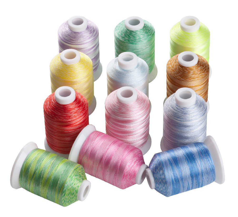 SIMTHREAD Variegated Colors Polyester Embroidery Machine Thread 1000M/Spool