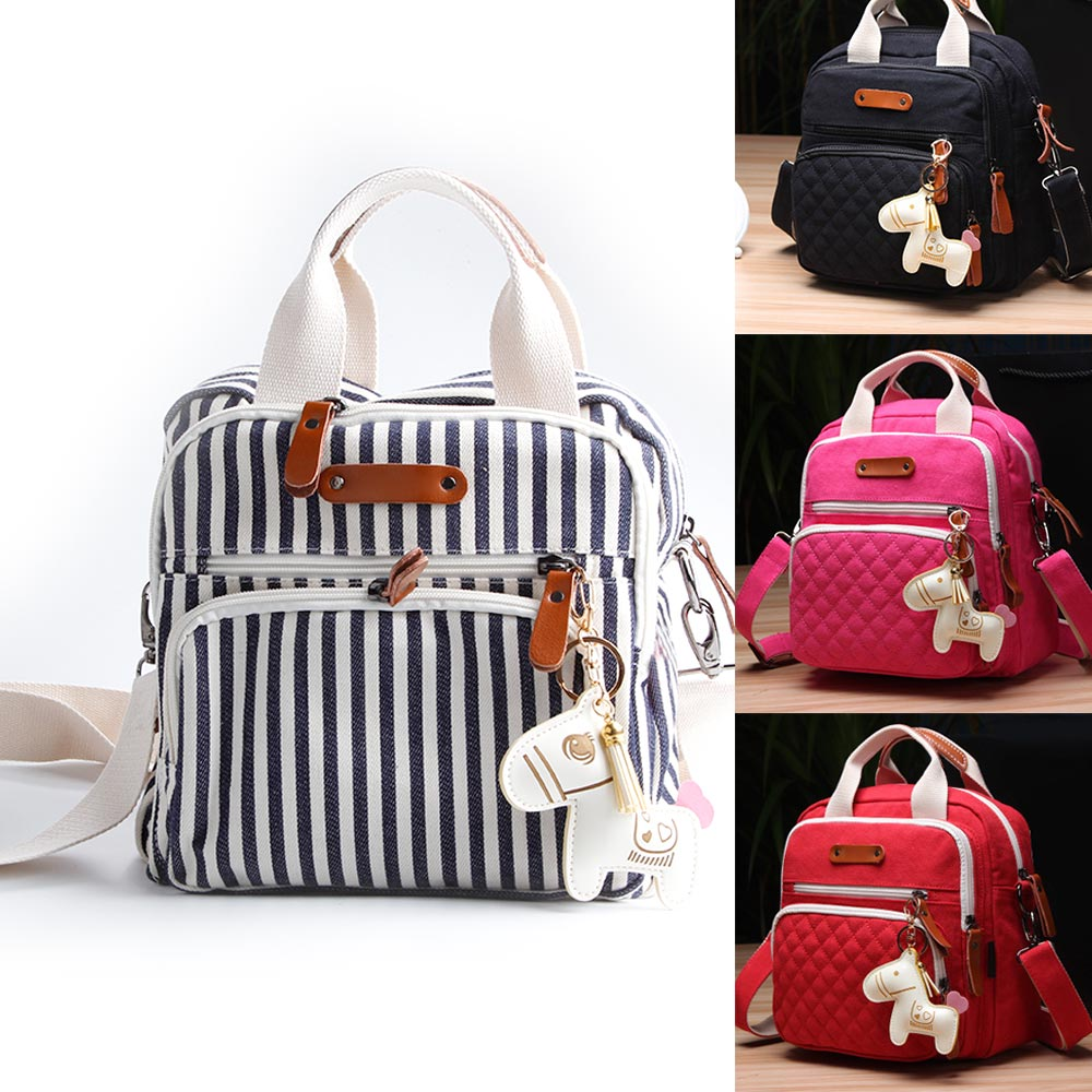 Waterproof Baby Diaper Nappy Bags Multifunctional Fashion Diaper Backpack For Mom New Cartoon Horse Decorate Mummy Bag For Baby