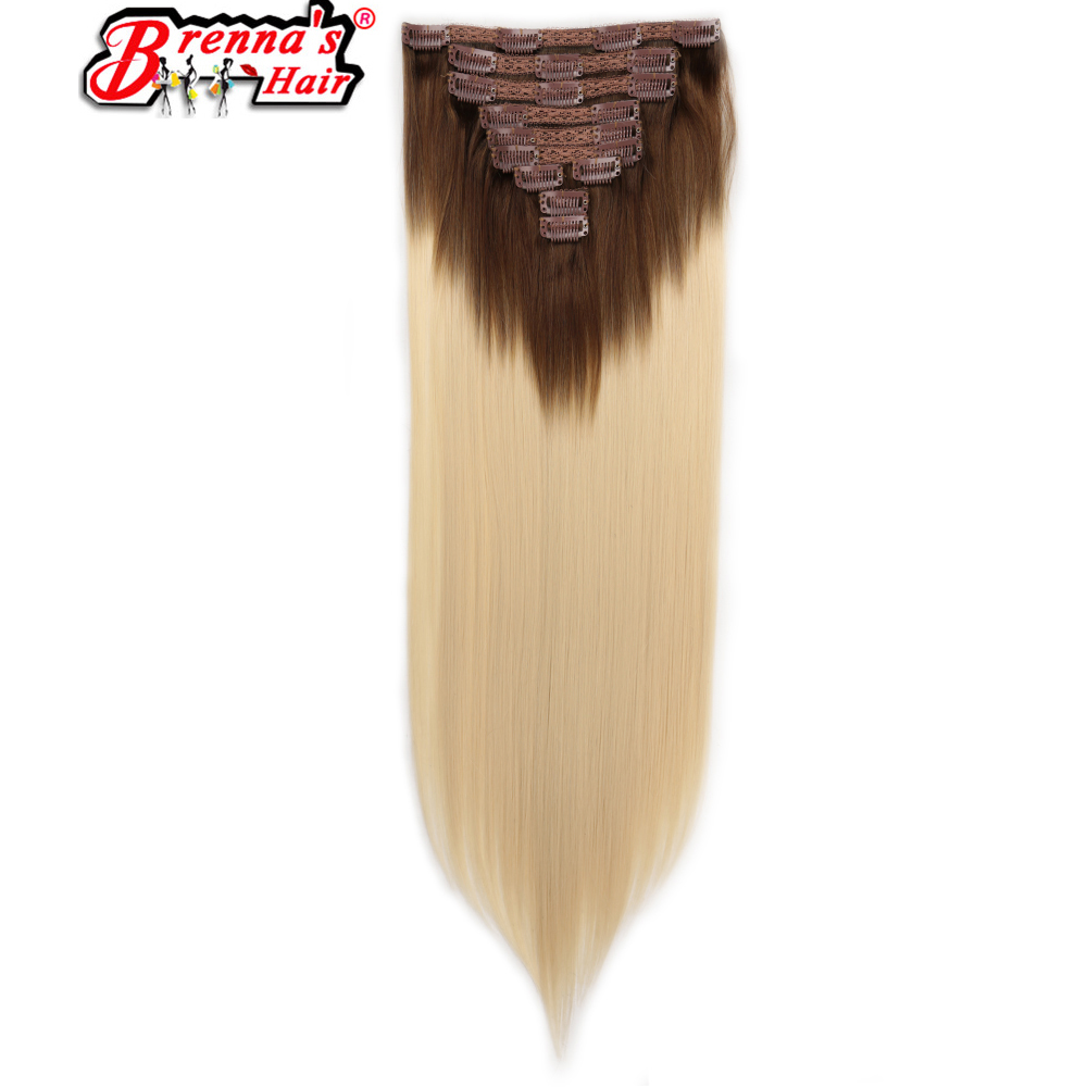 Zielstrebig Eunice Haar 100% Echt Thick 140g 10 Pcs Vollen Kopf #613 Synthetische Clip In Haar Extensions 20 Clips Ins Gerade Natürliche Haarteile Synthetische Clip-in-extensions