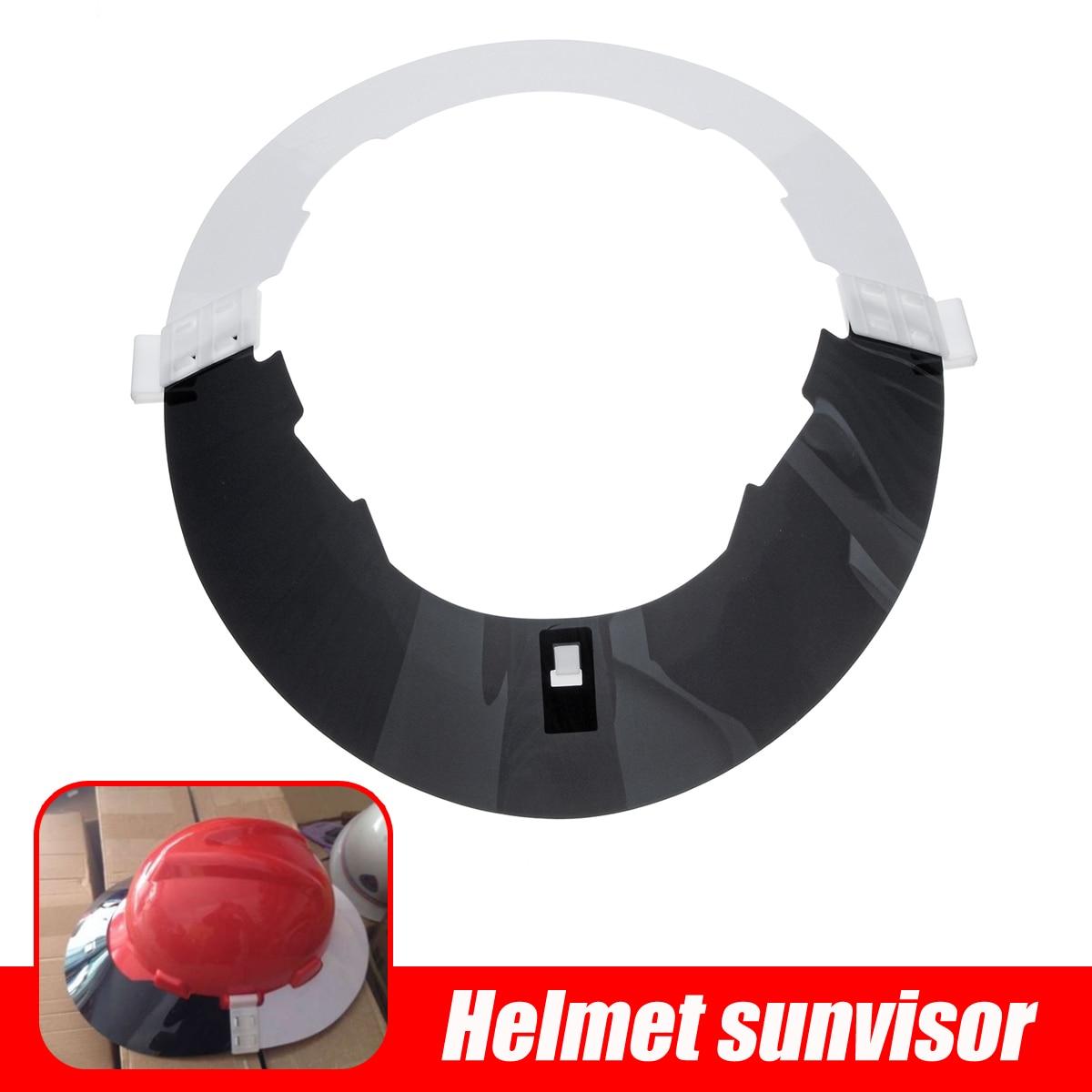 Safety Helmet Sunvisor Full Brim Hard Hat Sun Shield and Visor Hard Hat Visor High Light Transmission PC Flame Retardant Panel