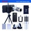4 em 1 kit Camera Lens Telescope 14X de zoom da lente + 0.67X Wide Angle & Macro Lens + Fisheye Lens Mini tripé para iPhone e Samsung CL-22S
