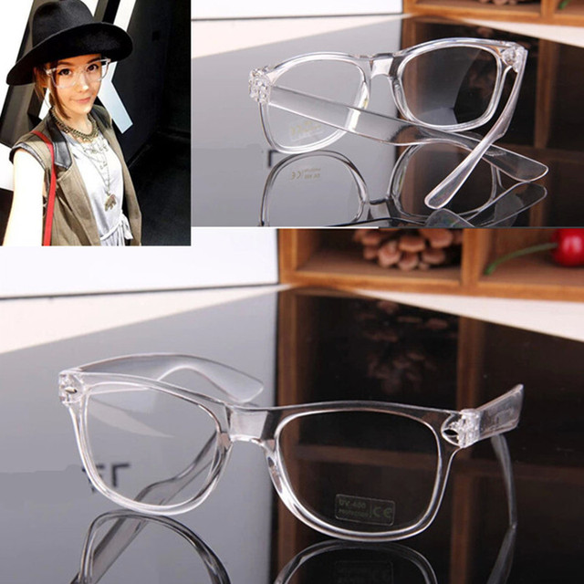 fashion unisex transparent frame star t stage show clear lens glasses spectacle designer nerd geek eyeglass