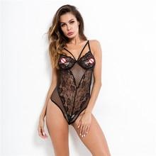 Women Catsuit Lingerie Sexy Hot Erotic Bodysuit Lace Babydoll Sleepwear Porno Costumes Teddy