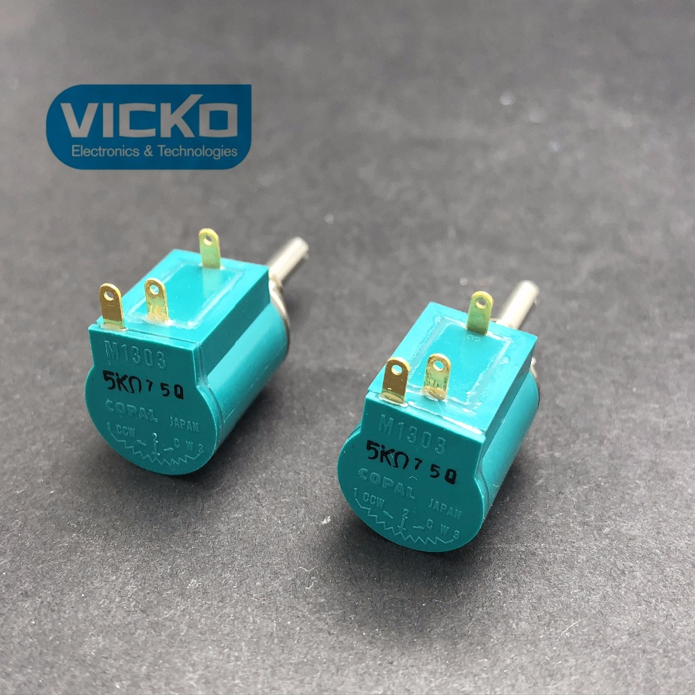 [VK] original COPAL M1303  M-1303 1K 2K 5K 10K 20K High performance accuracy 3 laps potentiometer  SWITCH 1pcs u s imports bi 7276 winding multi turn potentiometer switch r1k 2k 5k 10k 20k 50k 100k
