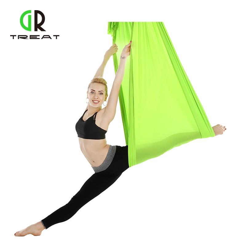 5*2.8 m Anti-gravité Yoga hamac Pilates Yoga Gym suspendu ceinture Swing musculation équipement de Fitness dispositif de Traction aérienne
